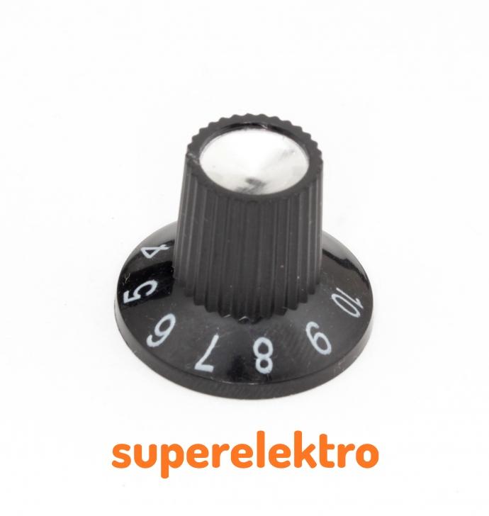 2x drehknopf f r potentiometer mit skala poti knopf gitarren poti ebay. Black Bedroom Furniture Sets. Home Design Ideas