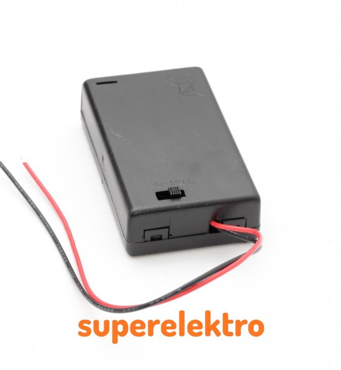 Batteriefach für 3 AAA mit Schalter Batterien-Halterung Akku-Fach ...